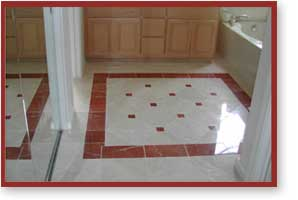 Custom Bathroom Tile Flooring